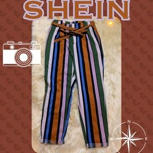 Shein Colorful Vertical Striped Boho Pants